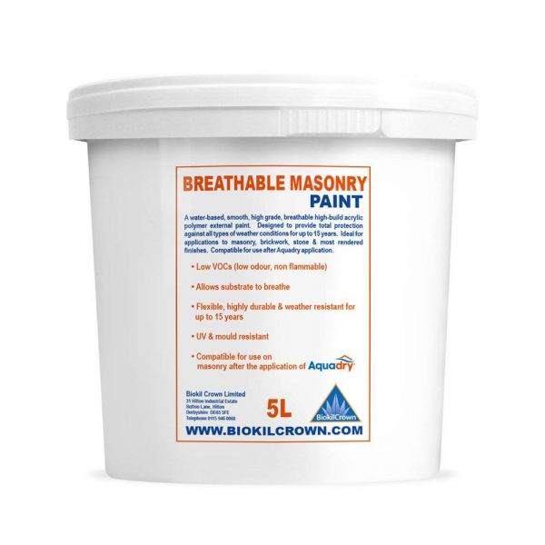 Biokil Crown Breathable Masonry Paint